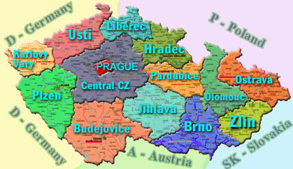 Map of Czech Dentists